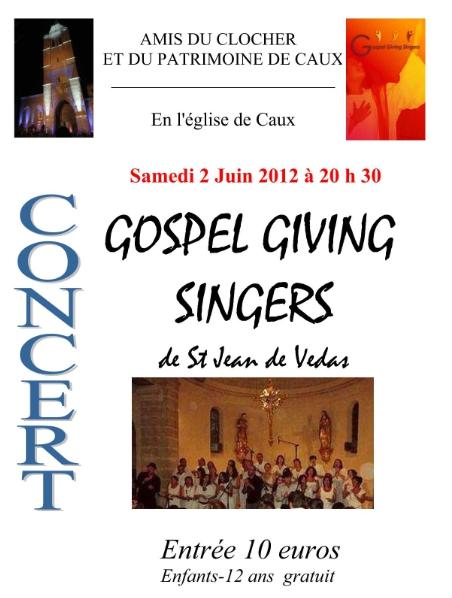 affiche 2012 Gospel Caux