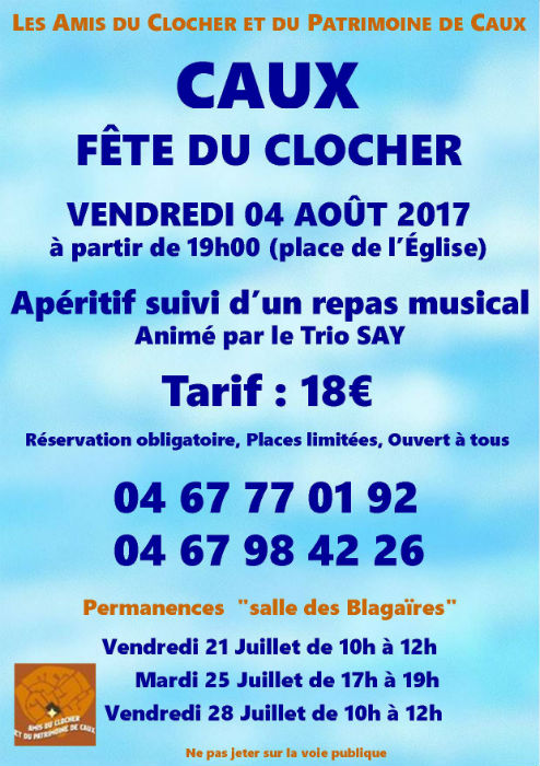 Caux fête du clocher