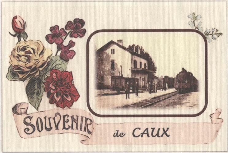 carte postale caux gare