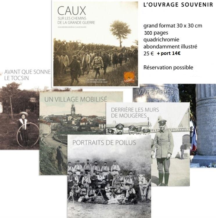 livre Caux sur les chemins de la Grande Guerre 1914-1918