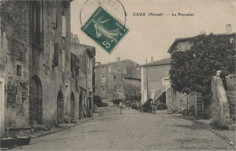 carte postale caux rues
